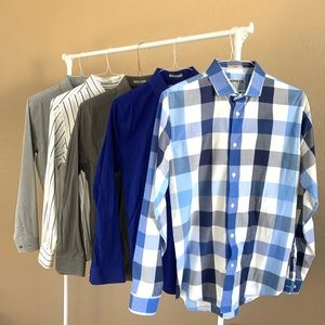 Lot of Express Fitted Button Down Dress Shirts
